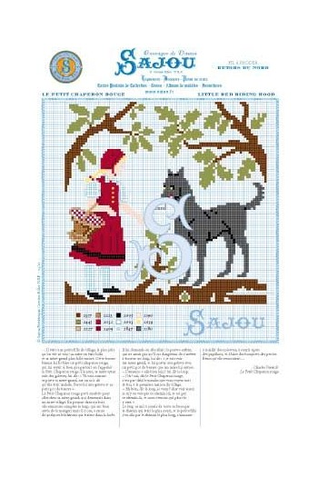 Cross stitch pattern Perrault's fairy tale Little red riding hood
