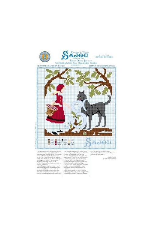 Cross stitch pattern Perrault's fairy tale Little red riding hood