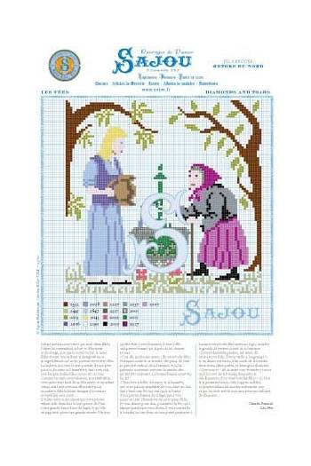 Cross stitch pattern Perrault's fairy tale Diamonds and Toads