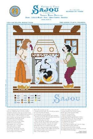 Cross stitch pattern Perrault's fairy tale The ridiculous whishes