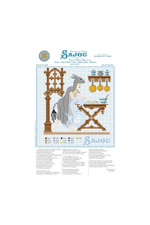 Cross stitch pattern Perrault's fairy tale Peau d'âne