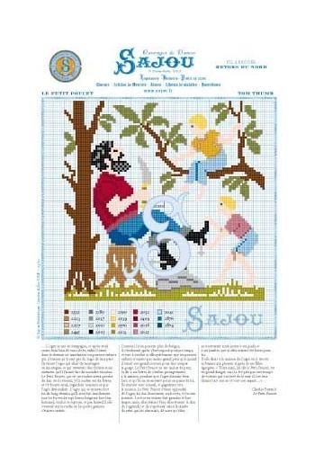 Cross stitch pattern Perrault's fairy tale Tom Thumb