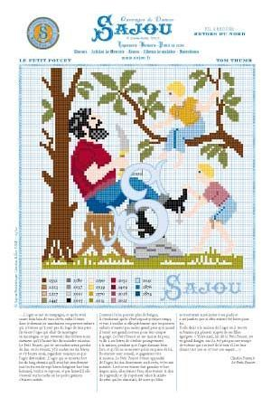 Cross stitch pattern Perrault's fairy tale Tom Thumb