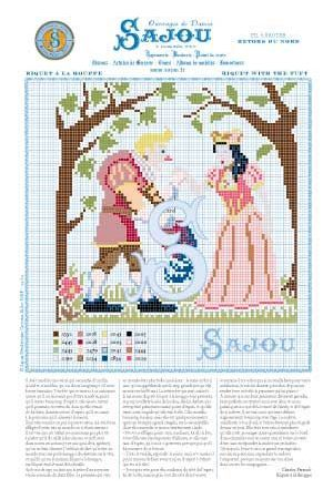 Cross stitch pattern Perrault's fairy tale Riquet with the tuft