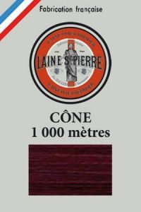 Laine Saint-Pierre 1000m cone - colour n°475 Burgundy