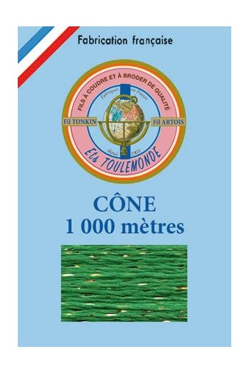 Stickgarn Tonkin Polyester mit Goldlurex – 1000 m 1014 – Waldmeister