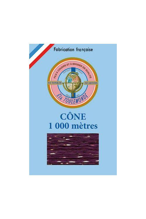 Fil à broder Tonkin Polyester lamé or - 1 000m coloris 1023 - Violet
