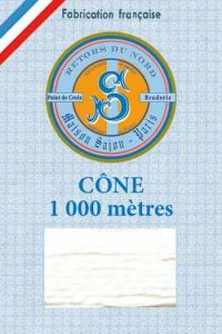 Embroidery floss cone Sajou Retors du Nord 2003 Pure White