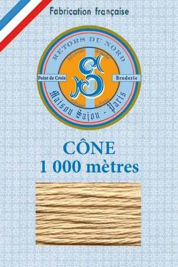 Stickgarn Retors du Nord Sajou 1000 m – n°2221 Karamel