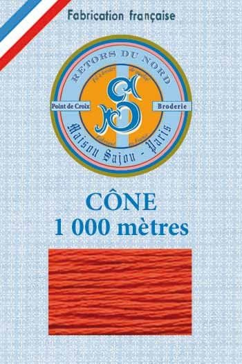 Embroidery floss cone Sajou Retors du Nord n°2035 Burnt orange