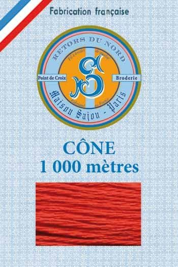 Embroidery floss cone Sajou Retors du Nord n°2491 Brick