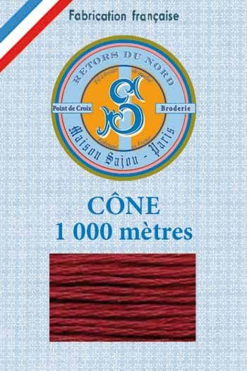 Embroidery floss cone Sajou Retors du Nord n°2028 Rust