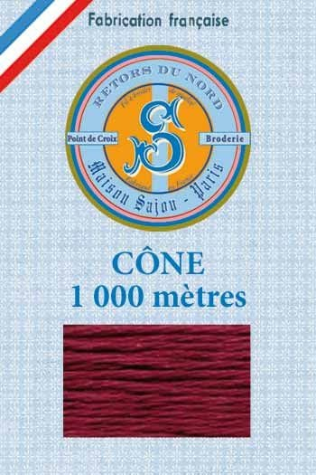 Embroidery floss cone Sajou Retors du Nord n°2409 Bordeaux