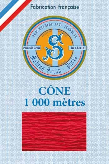 Embroidery floss cone Sajou Retors du Nord n°2030 Red