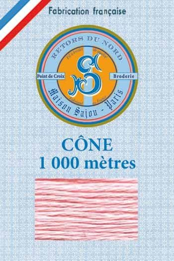 Embroidery floss cone Sajou Retors du Nord n°2535 Blush