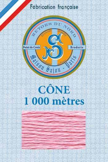 Embroidery floss cone Sajou Retors du Nord n°2447 pink