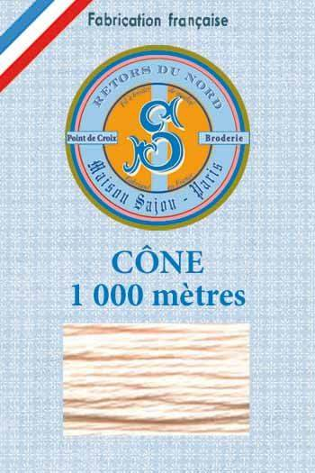 Embroidery floss cone Sajou Retors du Nord n°2190 baby Candyfloss