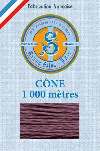 Embroidery floss cone Sajou Retors du Nord n°2007 Blackcurrant