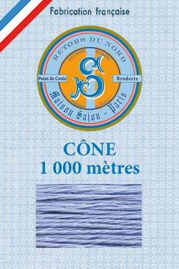 Embroidery floss cone Sajou Retors du Nord n°2536 nattier blue