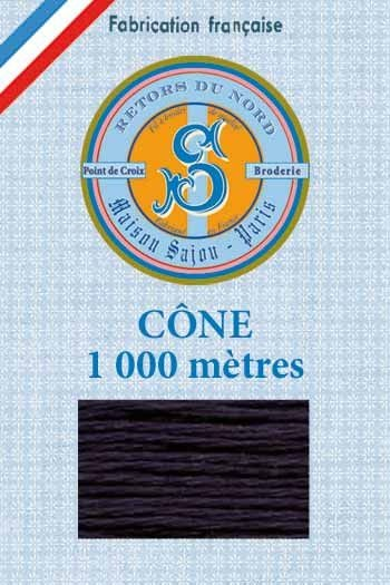 Embroidery floss cone Sajou Retors du Nord n°2864 Navy