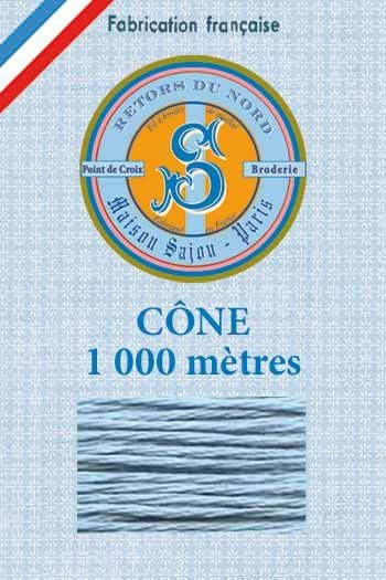 Embroidery floss cone Sajou Retors du Nord n°2818 Gobelin blue