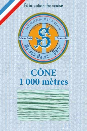Embroidery floss cone Sajou Retors du Nord n°2020 water