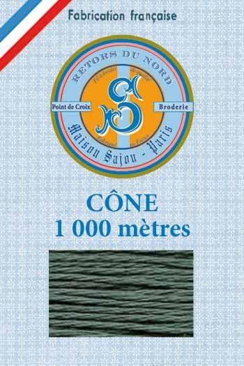 Embroidery floss cone Sajou Retors du Nord n°2022 Larch