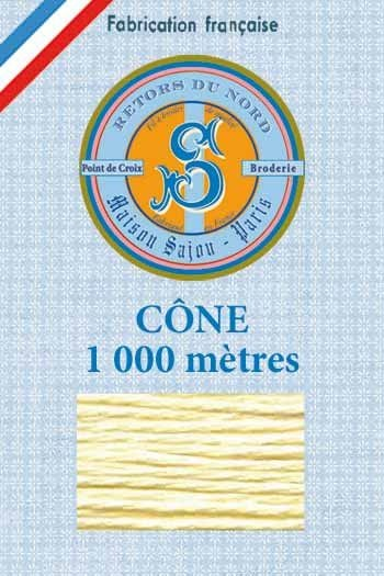 Embroidery floss cone Sajou Retors du Nord n°2532 Straw