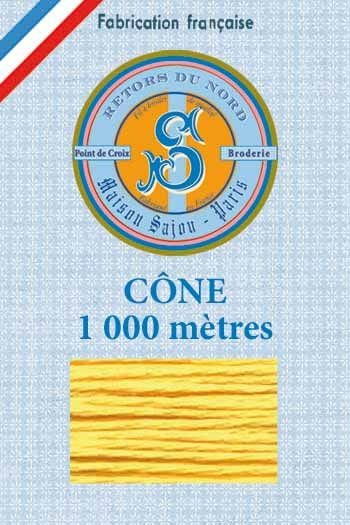 Embroidery floss cone Sajou Retors du Nord n°2043 orpiment