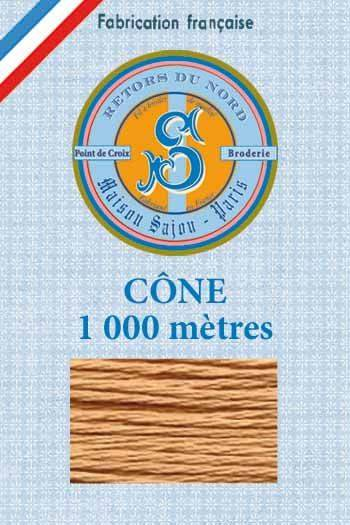 Embroidery floss cone Sajou Retors du Nord n°2478 Suede