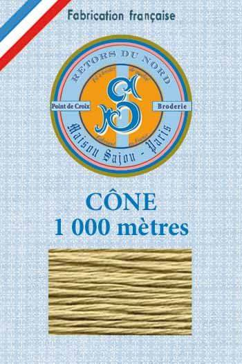 Embroidery floss cone Sajou Retors du Nord n°2242 Putty