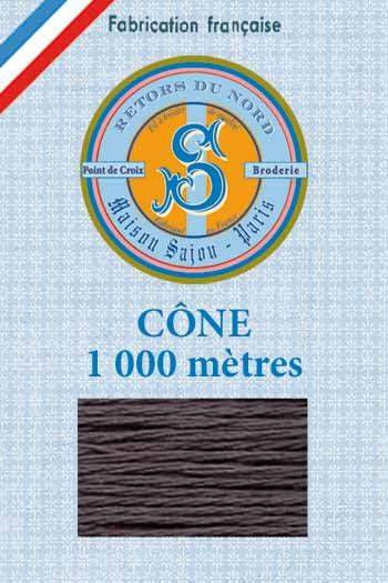 Embroidery floss cone Sajou Retors du Nord n°2086 Coal
