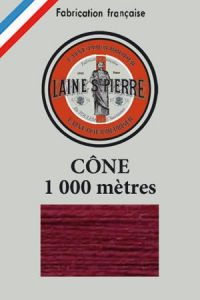 Laine Saint-Pierre 1000m cone - colour n°456 Bordeaux