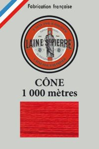 Laine Saint-Pierre 1000m cone - colour n°510 Red