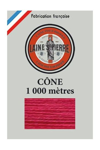 Cône de 1 000 mètres - Laine Saint-Pierre - coloris n°506 Cerise