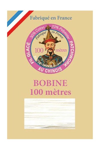 Waxed patchwork thread 100m spool - Col.100 - White