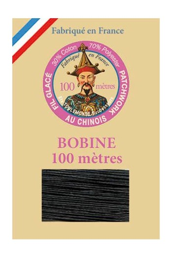 Waxed patchwork thread 100m spool - Col.180 - Black