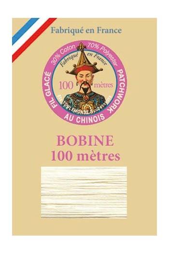 Fil glacé pour patchwork bobine 100 m Col. 105 Ecru