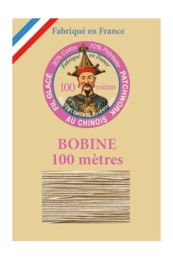 Waxed patchwork thread 100m spool - Col.306 - linen