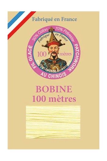 Waxed patchwork thread 100m spool - Col.330 - Pale yellow