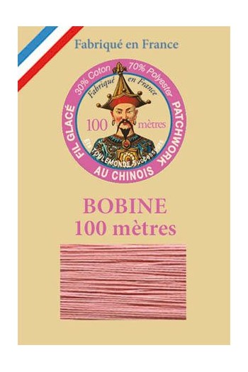 Waxed patchwork thread 100m spool - Col.592 - Pink