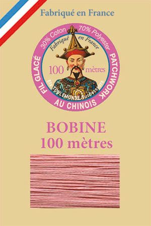 Waxed patchwork thread 100m spool - Colour 592 - Pink
