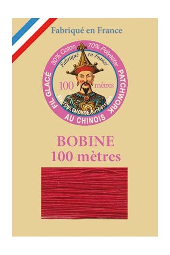 Waxed patchwork thread 100m spool - Col.510 - Red