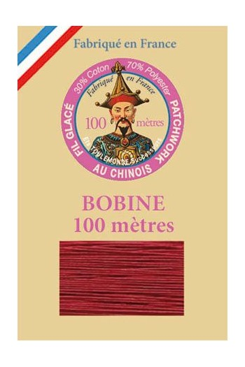 Waxed patchwork thread 100m spool - Col.535 - Dark red
