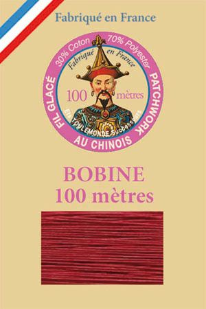 Waxed patchwork thread 100m spool - Colour 535 - Dark Red