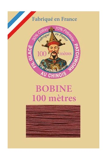 Waxed patchwork thread 100m spool - Col.232 - Plum