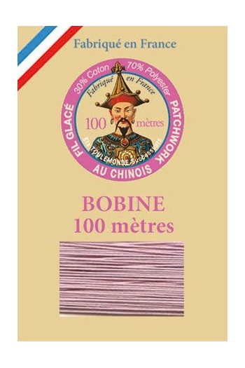 Waxed patchwork thread 100m spool - Col.605 - Mauve