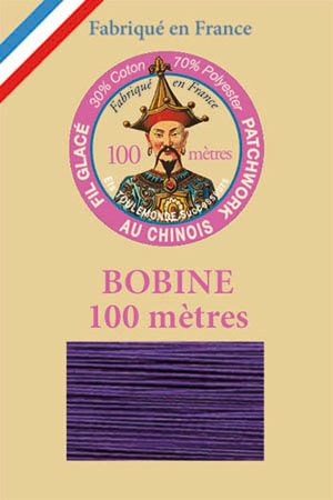 Waxed patchwork thread 100m spool - Col. 550 - Purple