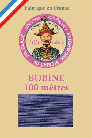 Waxed patchwork thread 100m spool - Col.731 - Cobalt