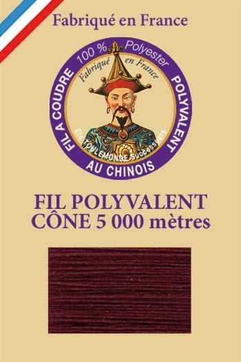 Polyester sewing thread 5000m cone - Col. 450 Aubergine